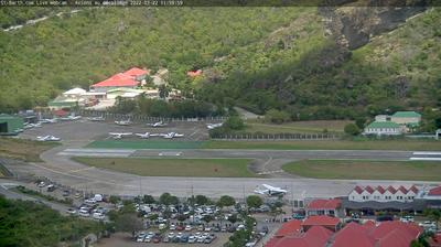 Daylight webcam view from Corossol: Aéroport Gustaf III, St Barth