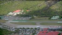 Last daylight view from Corossol: Aéroport Gustaf III, St Barth