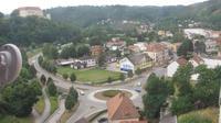 Letovice: kruhový objezd a zámek
