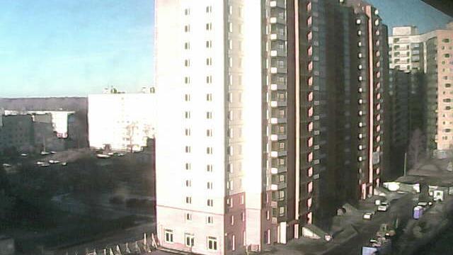 Webcam Kirovskoye: bulvar Partizanskoy Slavy − stroitelst
