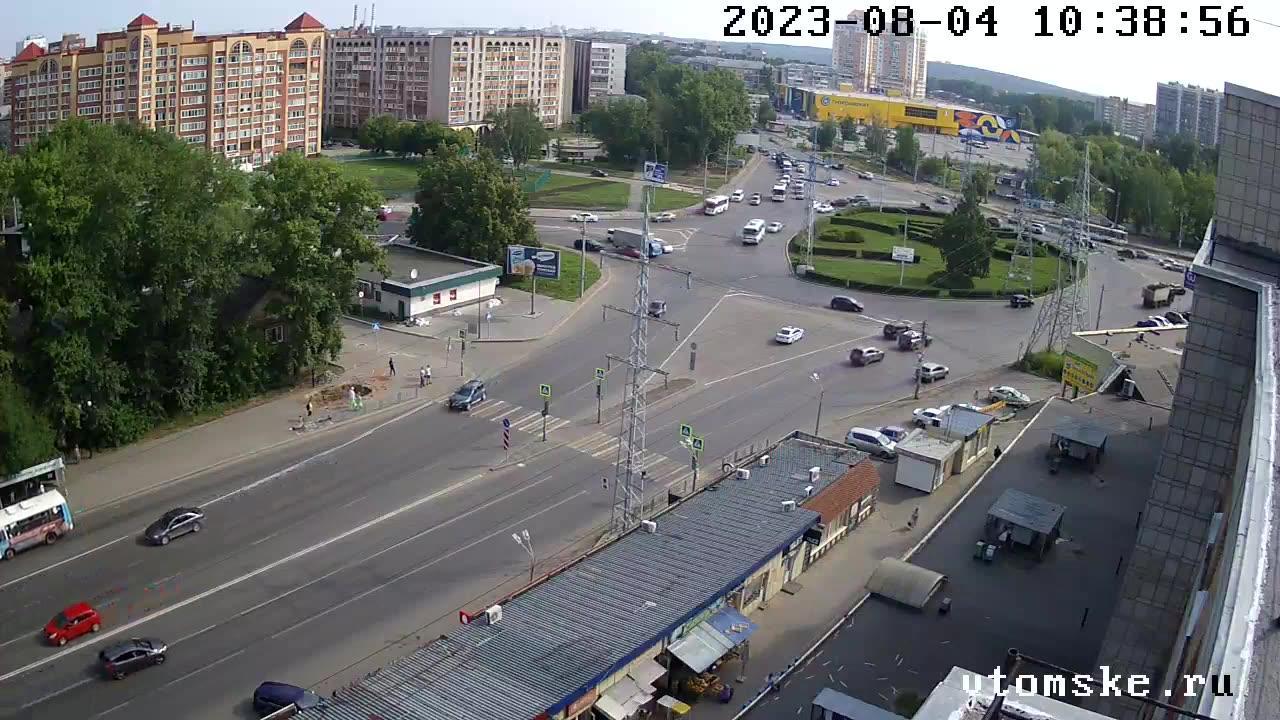 Webcam Tomsk: Транспортная площадь
