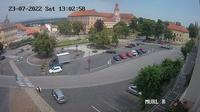 Roudnice nad Labem: Karlovo n�m?st� - Roudnice castle - Overdag