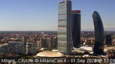 Daylight webcam view from Fiera Campionaria › West: CityLife