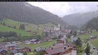 Dernière vue de jour à partir de Kristberg: Dorfzentrum vom Silbertal