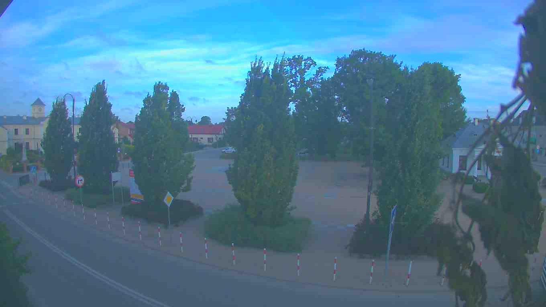 Webcam Łęczna › West: Dawny ratusz − Fontanna w Łęcznej −