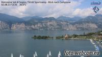 Malcesine: Val di Sogno - Stickl Sportcamp - Blick nach Campione - Overdag