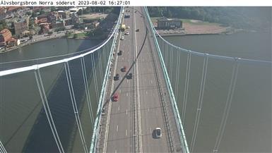 Webcam Färjenäs: Älvsborgsbron Norra söderut