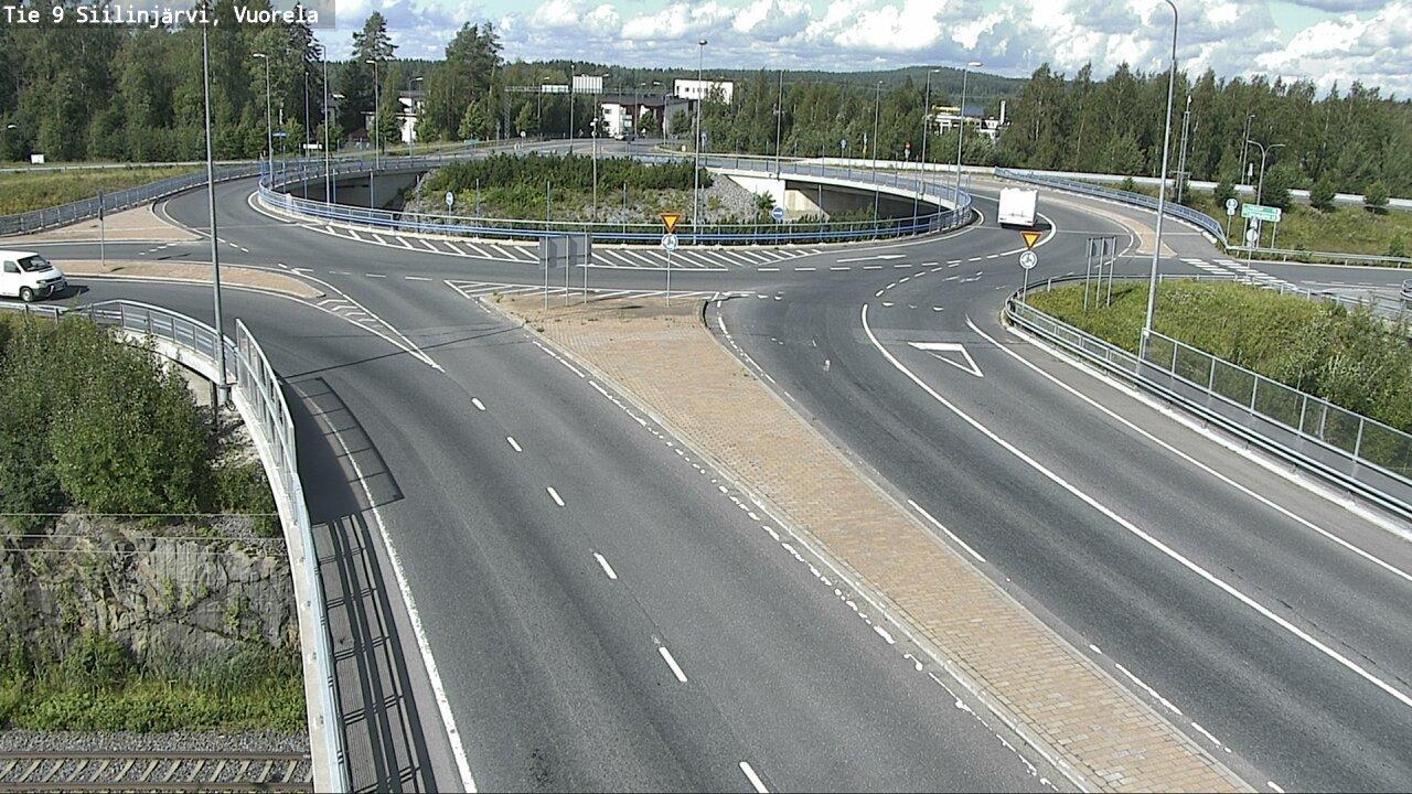Webkamera Siilinjärvi: Tie 9 Vuorela − Kuopioon