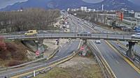 Seyssinet-Pariset: Grenoble-Autoroute A à Grenoble. Vue orientée sur l'entrée et sortie de Grenoble Sud - Day time