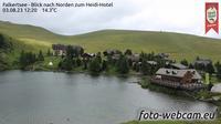 Heidi Hotel: Falkertsee - Blick nach Norden zum Heidi-Hotel - El día