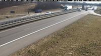 Leinfelden-Echterdingen: B  AS - Süd/Stetten Blickrichtung Tübingen - Dia
