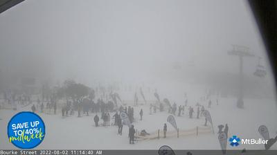 Daylight webcam view from Clifton Hill: Mt Buller − Mt Stirling