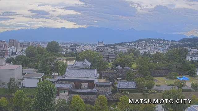 Webcam Matsumoto: City Hall − Castle View