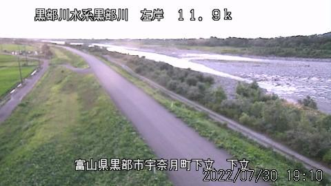 Webcam 芦崎: Kurobe River − Oritate