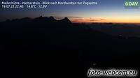 Leutasch: Meilerhütte - Wetterstein - Blick nach Nordwesten zur Zugspitze - Actuales