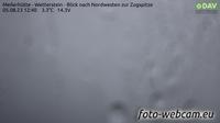 Leutasch: Meilerhütte - Wetterstein - Blick nach Nordwesten zur Zugspitze - El día