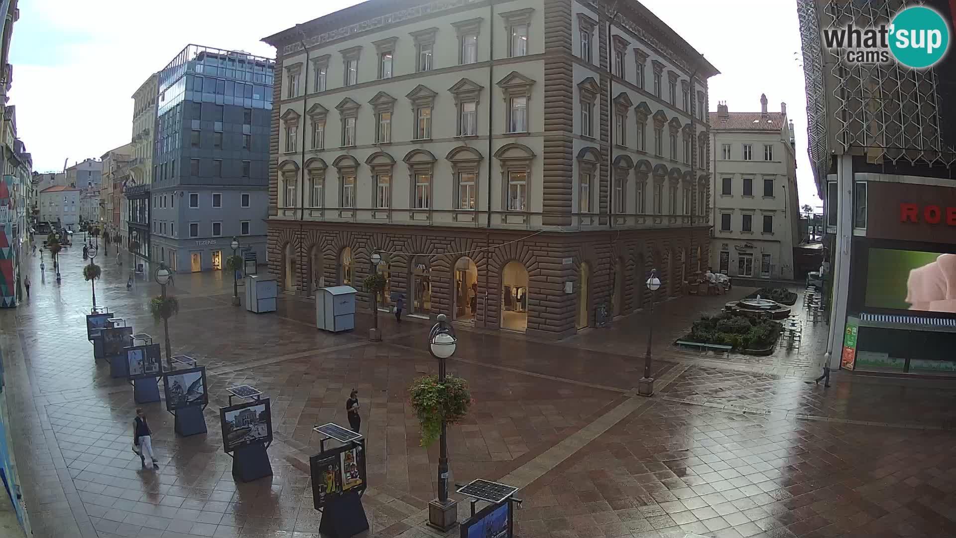 Webcam Rijeka: City, Korzo view