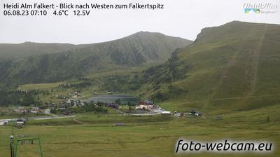 Aktuelle oder letzte ansicht von Falkert: Heidi Alm Bergresort − Blick nach Westen zum Falkertspitz