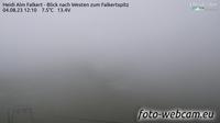 Ultima vista de la luz del día desde Falkert: Heidi Alm Bergresort − Blick nach Westen zum Falkertspitz