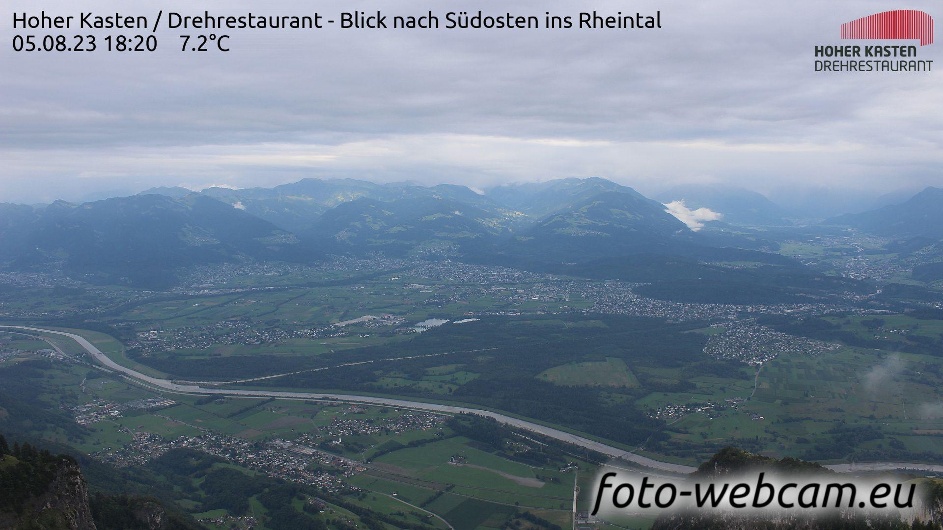 Rüte: Drehrestaurant Hoher Kasten - Rheintal