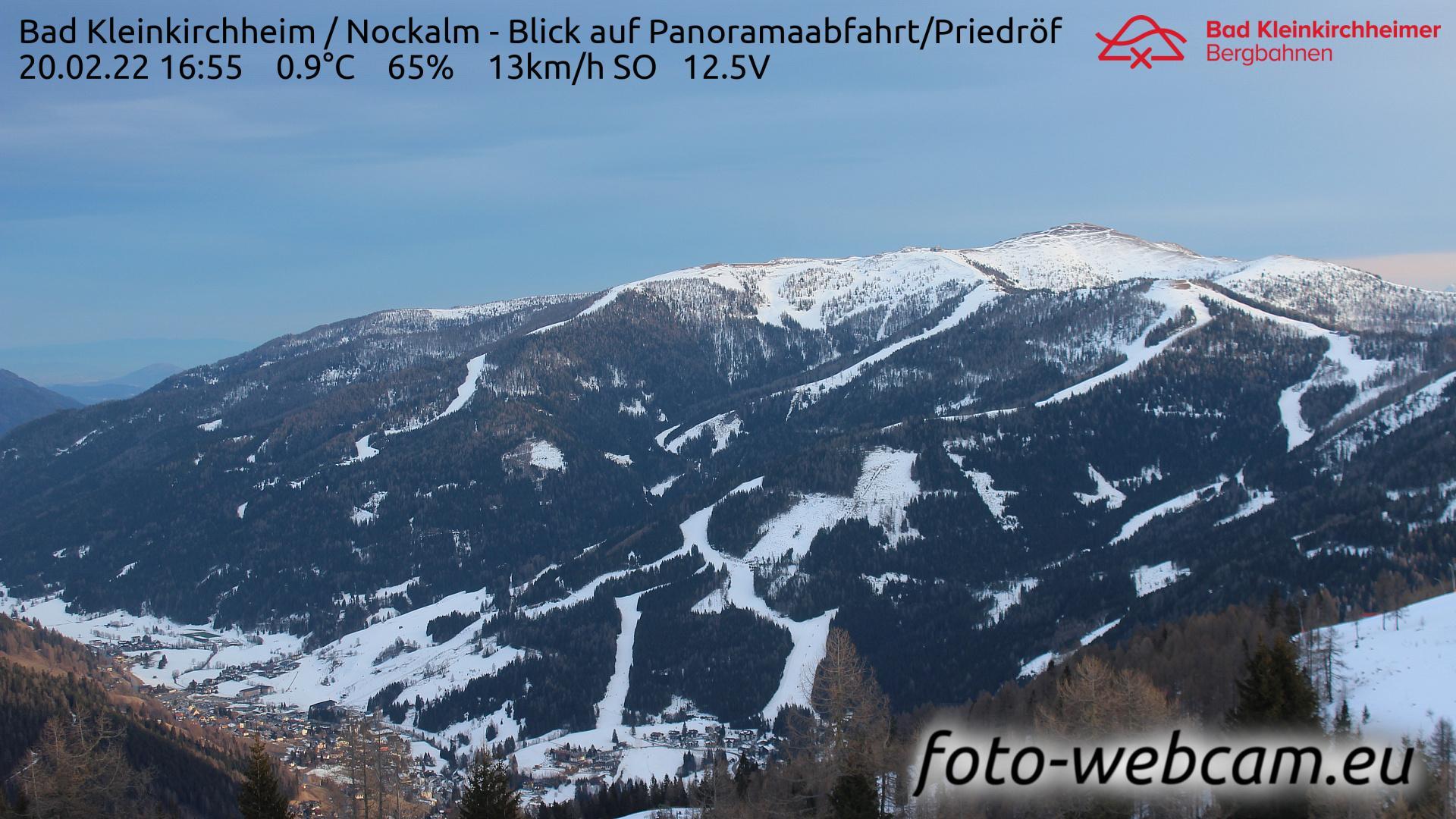Webcam Staudach: Bad Kleinkirchheim − Nockalm − Blick auf