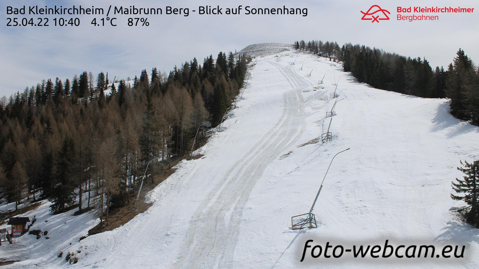 Webcam Rauth: Bad Kleinkirchheim − Maibrunn Berg − Blick