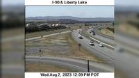 Liberty Lake: I- at MP . - Rd - Overdag