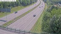 Viby: Kameran �r placerad p� E Uppsalav�gen mellan trafikplats Rotebro och trafikplats H�ggvik och �r riktad mot Stockholm - Overdag