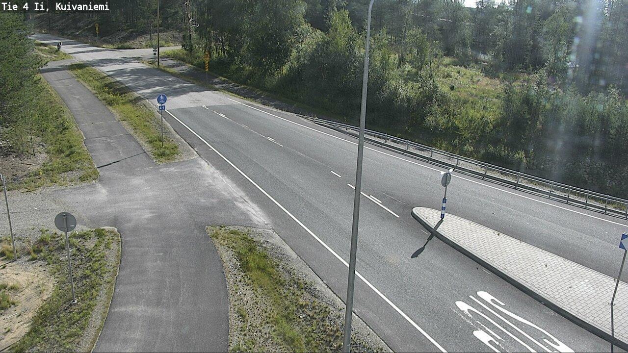 Webcam Pohjois-Ii: Tie 4 Kuivaniemi − Tie 18813 Viinamäke