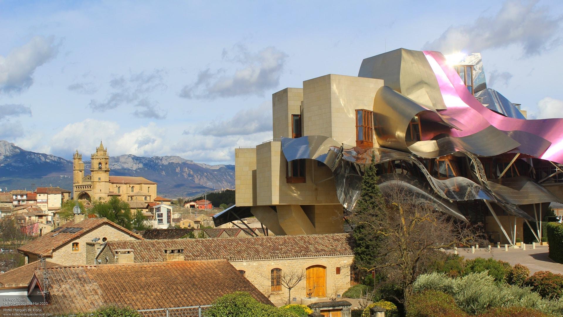 Webkamera Elciego: Hotel Marqués de Riscal