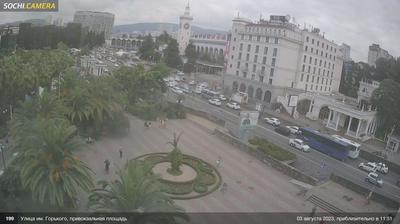 Vista de cámara web de luz diurna desde Соболевка: Вокзал Сочи