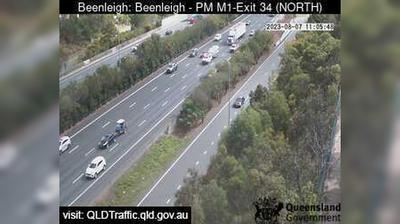 Tageslicht webcam ansicht von Beenleigh: Pacific Motorway M1 − Exit 34 (North West)