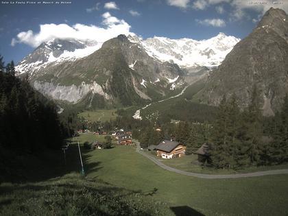 La Fouly: Glacier de l'A Neuve - Mont Dolent - Mont Blanc massif
