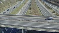 Letzte Tageslichtansicht von Emmen: A2 − A14 Rotsee Richtung Zug