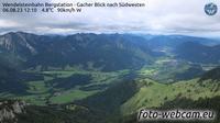 Bayrischzell: Wendelsteinbahn Bergstation - Gacher Blick nach S�dwesten - El día