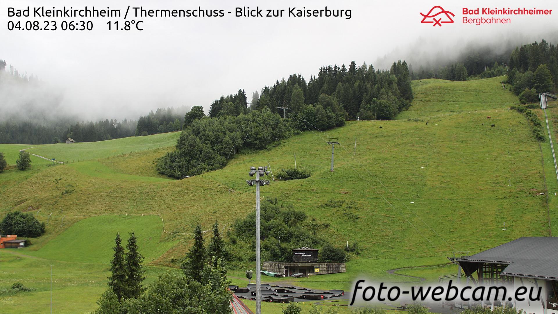 Webcam Bach: Bad Kleinkirchheim − Thermenschuss − Blick z