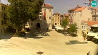 Zadar: Petar Zoranic square - Day time