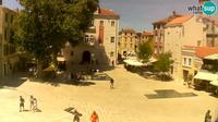 Last daylight view from Zadar: Petar Zoranic square