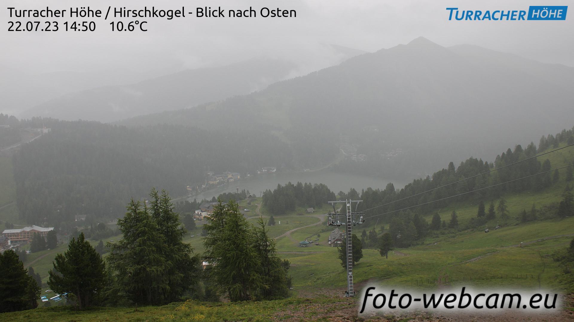 Webcam Brandstätter: Turracher Höhe − Hirschkogel − Blick
