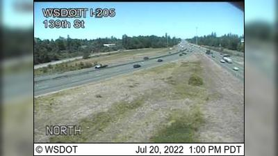 Vista de cámara web de luz diurna desde Salmon Creek: I 205: 139th St