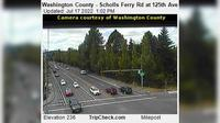 Beaverton: Washington County - Scholls Ferry Rd at th Ave - Dia