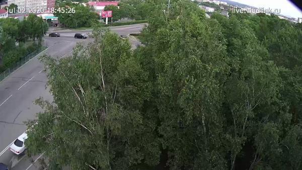 Webkamera Ussuriysk: Краснознаменная − Пушкина