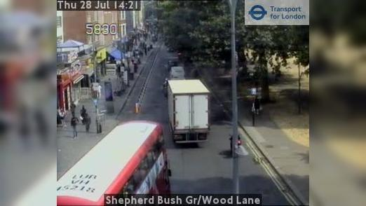 Webcam Acton: Shepherd Bush Gr/Wood Lane