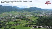 Micheldorf in Oberosterreich: Burg Altpernstein - Blick auf Micheldorf und das Kremstal - Current