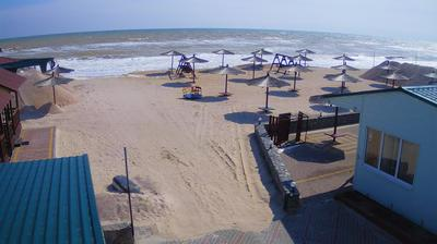 Vue webcam de jour à partir de Stepok › West: Азовское море − база отдыха Гавайи (Azov sea, beach view)