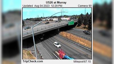 Vista de cámara web de luz diurna desde Cedar Mill: US26 at Murray