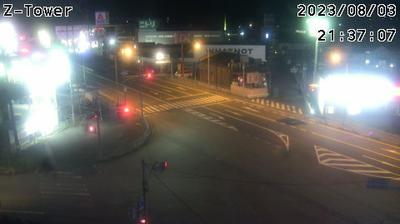 Vue actuelle ou dernière à partir de 三木: Miki Omura Intersection (三木市大村交差点)