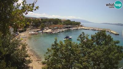 Daylight webcam view from Novi Vinodolski: Povile − Beach