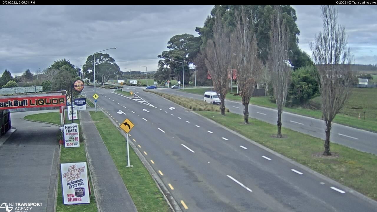 Webcam Chaneys › North: SH1 − North, Christchurch