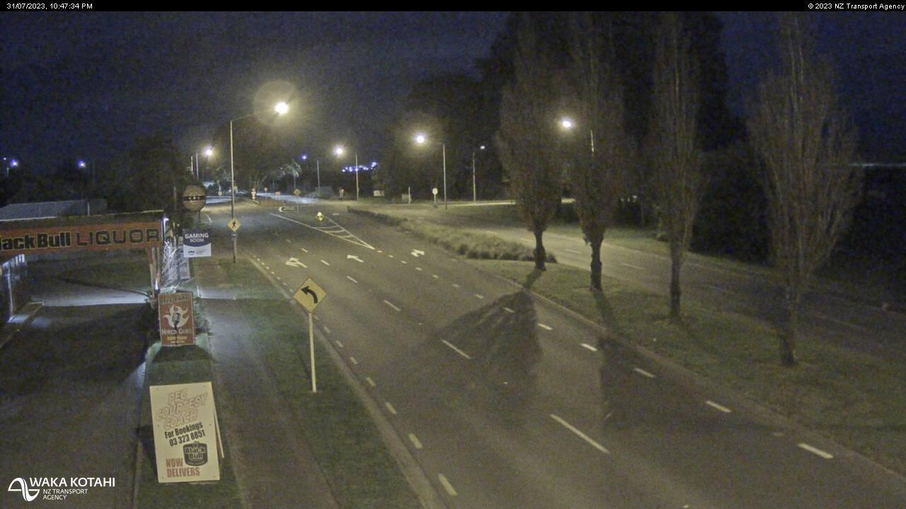 Webkamera Chaneys › North: SH1 − North, Christchurch
